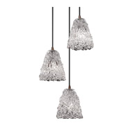 Veneto Luce 3 Light 4 inch Dark Bronze Pendant Ceiling Light in Lace (Veneto Luce), Tapered Cylinder