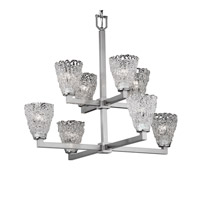 Justice Design Veneto Luce Modular 8-Light 2-Tier Chandelier in Brushed Nickel GLA-8828-18-LACE-NCKL photo thumbnail