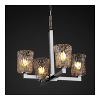 Justice Design Veneto Luce Modular 4-Light Chandelier in Polished Chrome GLA-8829-16-CLRT-CROM