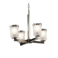 Justice Design Veneto Luce Modular 4-Light Chandelier in Brushed Nickel GLA-8829-16-WTFR-NCKL