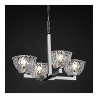 Justice Design Veneto Luce Modular 4-Light Chandelier in Polished Chrome GLA-8829-36-CLRT-CROM