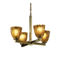 Justice Design Veneto Luce Modular 4-Light Chandelier in Antique Brass GLA-8829-56-AMBR-ABRS