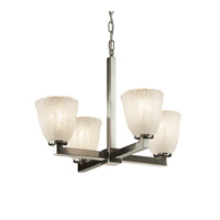Justice Design Veneto Luce Modular 4-Light Chandelier in Brushed Nickel GLA-8829-56-WHTW-NCKL