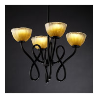 Justice Design Veneto Luce Capellini 4-Light Chandelier in Matte Black GLA-8910-36-GLDC-MBLK photo thumbnail