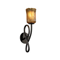 Justice Design Veneto Luce Capellini 1-Light Wall Sconce in Dark Bronze GLA-8911-16-AMBR-DBRZ