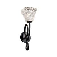 Justice Design Veneto Luce Capellini 1-Light Wall Sconce in Matte Black GLA-8911-40-LACE-MBLK