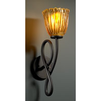 Justice Design Veneto Luce Capellini 1-Light Wall Sconce in Dark Bronze GLA-8911-56-AMBR-DBRZ