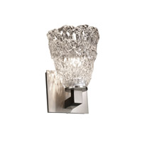 Veneto Luce 1 Light 5 inch Brushed Nickel Wall Sconce Wall Light in Lace (Veneto Luce), Tapered Cylinder
