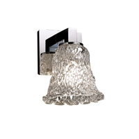 Justice Design Veneto Luce Modular 1-Light Wall Sconce in Polished Chrome GLA-8921-20-LACE-CROM
