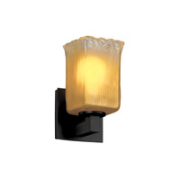 Justice Design Veneto Luce Modular 1-Light Wall Sconce in Matte Black GLA-8921-26-GLDC-MBLK