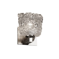Justice Design Veneto Luce Modular 1-Light Wall Sconce in Brushed Nickel GLA-8921-30-LACE-NCKL