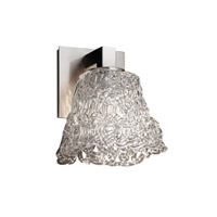 Veneto Luce 1 Light 5 inch Brushed Nickel Wall Sconce Wall Light in Lace (Veneto Luce), Square Flared