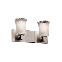 Justice Design Veneto Luce Modular 2-Light Bath Bar in Brushed Nickel GLA-8922-16-WTFR-NCKL