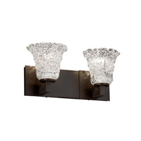 Justice Design Veneto Luce Modular 2-Light Bath Bar in Dark Bronze GLA-8922-20-LACE-DBRZ