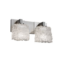 Justice Design Veneto Luce Modular 2-Light Bath Bar in Brushed Nickel GLA-8922-30-LACE-NCKL
