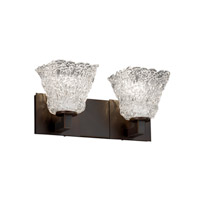Veneto Luce 2 Light 15 inch Dark Bronze Bath Bar Wall Light in Lace (Veneto Luce), Square Flared