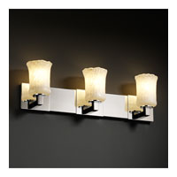 Justice Design Veneto Luce Modular 3-Light Bath Bar in Polished Chrome GLA-8923-16-WHTW-CROM