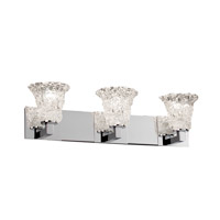 Justice Design Veneto Luce Modular 3-Light Bath Bar in Polished Chrome GLA-8923-20-LACE-CROM