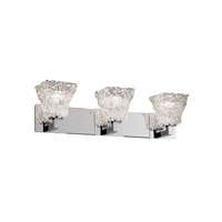 Justice Design GLA-8923-40-LACE-CROM Veneto Luce 3 Light 27 inch Polished Chrome Bath Bar Wall Light in Lace (Veneto Luce), Square Flared photo thumbnail