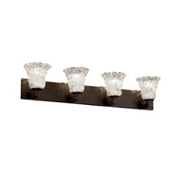 Justice Design Veneto Luce Modular 4-Light Bath Bar in Dark Bronze GLA-8924-20-LACE-DBRZ