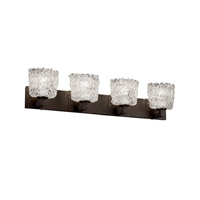 Justice Design Veneto Luce Modular 4-Light Bath Bar in Dark Bronze GLA-8924-30-LACE-DBRZ