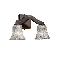Justice Design Veneto Luce Bend 2-Light Wall Sconce (Style 2) in Dark Bronze GLA-8975-20-LACE-DBRZ