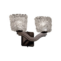 Justice Design Veneto Luce Bend 2-Light Wall Sconce (Style 2) in Dark Bronze GLA-8975-30-LACE-DBRZ