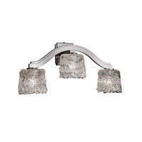 Justice Design Veneto Luce Bend 3-Light Wall Sconce (Style 2) in Brushed Nickel GLA-8976-30-LACE-NCKL