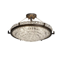 Veneto Luce 6 Light 27 inch Dark Bronze Semi-Flush Bowl Ceiling Light in Lace (Veneto Luce), Incandescent