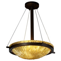 Veneto Luce 3 Light 21 inch Dark Bronze Pendant Bowl Ceiling Light in Amber (Veneto Luce)