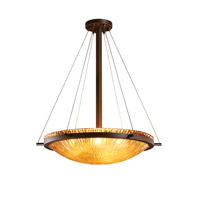 Justice Design GLA-9692-35-WTFR-DBRZ-LED5-5000 Veneto Luce LED 27 inch Dark Bronze Pendant Ceiling Light in 5000 Lm LED, White Frosted (Veneto Luce) photo thumbnail
