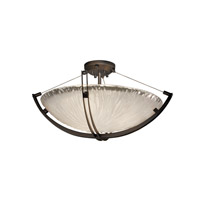 Veneto Luce 6 Light 28 inch Dark Bronze Semi-Flush Bowl Ceiling Light in White Frosted (Veneto Luce), Incandescent