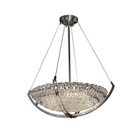 Veneto Luce 6 Light 28 inch Brushed Nickel Pendant Bowl Ceiling Light in Lace (Veneto Luce)