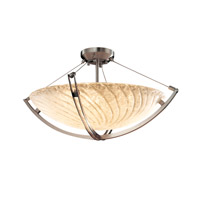 Veneto Luce 6 Light 28 inch Brushed Nickel Pendant Bowl Ceiling Light in Whitewash (Veneto Luce)
