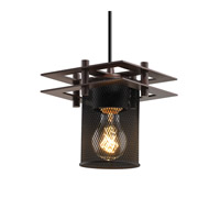 Justice Design Metropolis 1 Light Pendant in Dark Bronze MSH-8165-10-DBRZ-BKCD