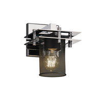 Justice Design Metropolis 1 Light Wall Sconce in Polished Chrome MSH-8171-10-CROM