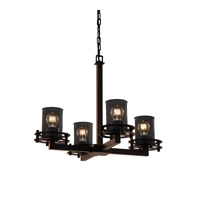 Justice Design Circa 4 Light Chandelier in Dark Bronze MSH-8200-10-DBRZ