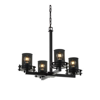 Justice Design Circa 4 Light Chandelier in Matte Black MSH-8200-10-MBLK