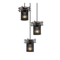 Justice Design Circa 3 Light Pendant in Brushed Nickel MSH-8266-10-NCKL-BKCD