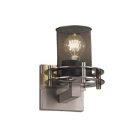 Circa 1 Light 7 inch Brushed Nickel Wall Sconce Wall Light in Cylinder with Flat Rim