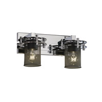 Justice Design Circa 2 Light Bath Light in Polished Chrome MSH-8272-10-CROM