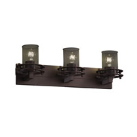 Justice Design Circa 3 Light Bath Light in Dark Bronze MSH-8273-10-DBRZ
