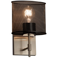 Wire Mesh 1 Light 7 inch Brushed Nickel Wall Sconce Wall Light in Oval