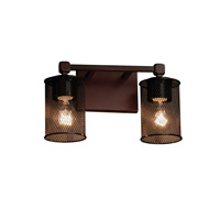 Justice Design Group Wire Mesh 2 Light Vanity Light in Dark Bronze MSH-8422-10-DBRZ
