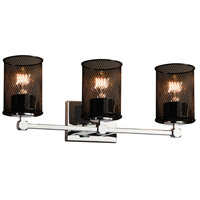Justice Design Group Wire Mesh 3 Light Vanity Light in Polished Chrome MSH-8423-10-CROM