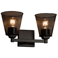 Justice Design Group Wire Mesh 2 Light Vanity Light in Matte Black MSH-8432-50-MBLK