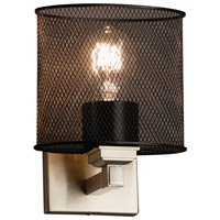Wire Mesh 1 Light 7 inch Brushed Nickel ADA Wall Sconce Wall Light