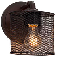 Justice Design MSH-8467-30-CROM Wire Mesh 1 Light 7 inch Polished Chrome ADA Wall Sconce Wall Light