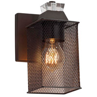 Justice Design MSH-8471-30-DBRZ Wire Mesh 1 Light 7 inch Dark Bronze Wall Sconce Wall Light in Oval