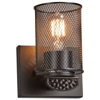 Justice Design MSH-8491-10-MBLK Wire Mesh Malleo 1 Light 6 inch Matte Black Wall Sconce Wall Light